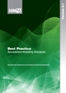 Download the Best Practice Spreadsheet Modelling Standards.